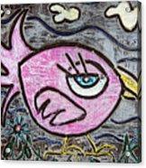 Pink Parrot Acrylic Print