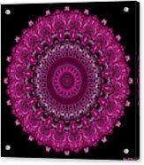 Pink Passion No. 7 Mandala Acrylic Print