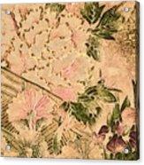 Pink Peonies - Kimono Series Acrylic Print