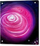 Pink Planet With Diffusing Atmosphere Acrylic Print