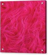 Pink Plush Fabric Acrylic Print