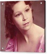 Pink Portrait  Acrylic Print