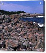 Pink Rock Shoreline Acrylic Print