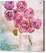 Pink Roses Beauty Acrylic Print