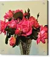 Pink Roses Bouquet 2 Acrylic Print