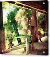 Pink Roses On The Porch Acrylic Print
