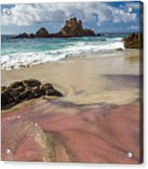 Pink Sand Beach In Big Sur Acrylic Print