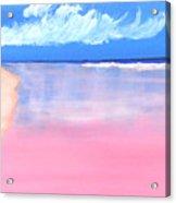 Pink Sand In Harbor Island - Bahamas Acrylic Print
