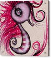 Pink Seahorse Acrylic Print