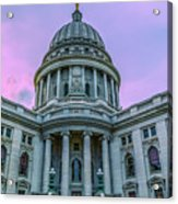 Pink Sky On The Square Acrylic Print