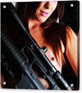 Pink Sniper Acrylic Print