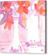 Pink Still Life Acrylic Print
