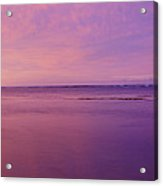 Pink Sunset Over The Ocean Acrylic Print