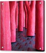 Pink Trees Palais Des Congres Montreal City Acrylic Print