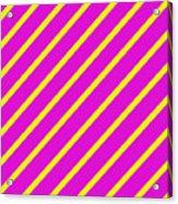 Pink Yellow Angled Stripes Acrylic Print