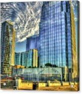 Pinnacle Building Sunset Nashville Shadows Nashville Tennessee Art Acrylic Print