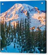 Pinnacle Saddle Winter Acrylic Print