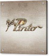 Pinto Car Badge Acrylic Print