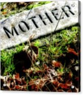 Pioneer Grave Acrylic Print