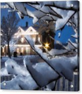 Pioneer Inn At Christmas Time Acrylic Print