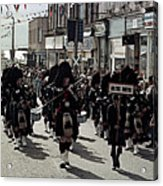 Pipe Band Highland Games Scotland Acrylic Print