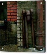 Pipe  Bricks Acrylic Print