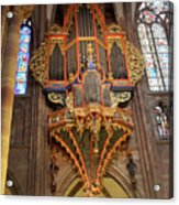 Pipe Organ In Strasbourg Cathedral Acrylic Print