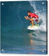 Pipeline Masters Champion Acrylic Print by Kevin Smith