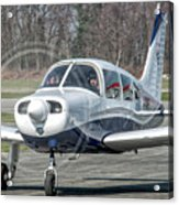 Piper Pa28 I-cnpg Taxiing To The Runway Acrylic Print