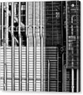 Pipes And Metal - Leeds Acrylic Print