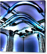 Pipes In Third Dimension Acrylic Print