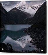 Piramide Reflecting In Lake Paron, Cordillera Blanca, Peru Acrylic Print