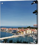 Piran Slovenia Gulf Of Trieste On The Adriatic Sea From The Punt Acrylic Print