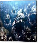 Piranha 3d Acrylic Print
