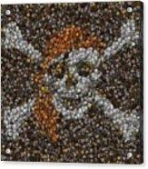 Pirate Coins Mosaic Acrylic Print