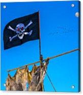 Pirate Flag And Moon Acrylic Print