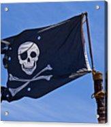 Pirate Flag Skull And Cross Bones Acrylic Print by Garry Gay