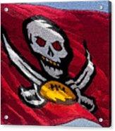 Pirate Football Acrylic Print