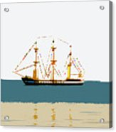 Pirate Ship On The Horizon Acrylic Print