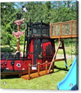 Pirate Ship Playhouse Wood Pirate Ship Playhouses Acrylic Print
