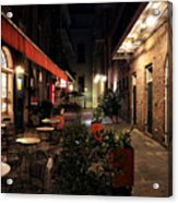 Pirates Alley At Night Acrylic Print