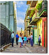 Pirate's Alley Wedding 2 - Paint Acrylic Print