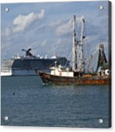 Pirate's Pride In Port Canaveral Acrylic Print