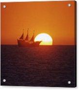 Pirateship Sunset Acrylic Print