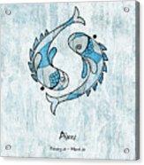 Pisces Artwork Acrylic Print