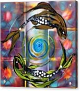 Pisces With Six Fence Lotus Acrylic Print