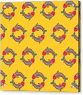 Pisces Zodiac Sign Pattern Acrylic Print