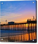 Pismo Beach and Pier Sunset Acrylic Print