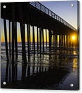 Pismo Sunset Wharf Acrylic Print