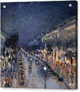 Pissarro: Paris At Night Acrylic Print